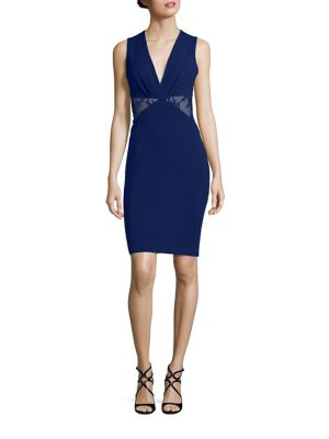 Lace Inset Sheath Dress