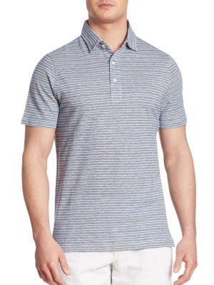 COLLECTION Striped Cotton-Blend Polo