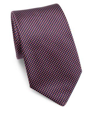 Micro-Printed Silk Tie