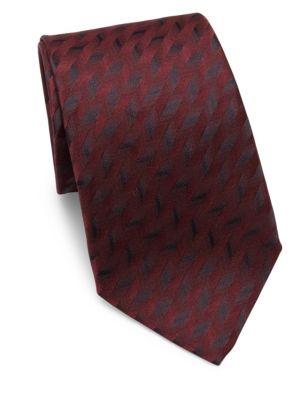 Metallic-Print Silk Tie