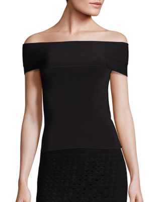 Knit Off-the-Shoulder Top by T by Alexander Wang