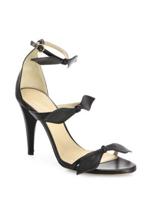 Mike Leather Knotted Bow Sandals