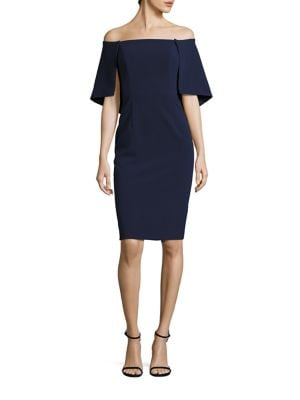 Eloise Cape Overlay Sheath Dress