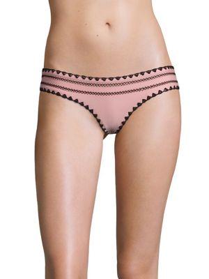 The Everything Cross Stitched & Shell Stitched Bikini Bottom by SAME SWIM