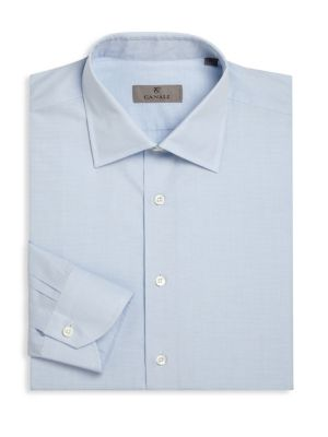 Regular-Fit Micro Dotted Dress Shirt