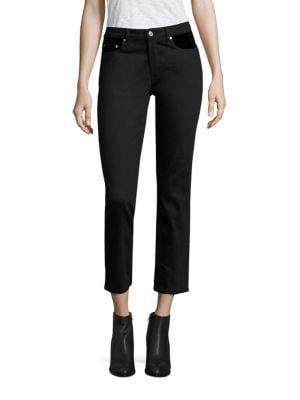 Row Velvet Inset Cropped Jeans