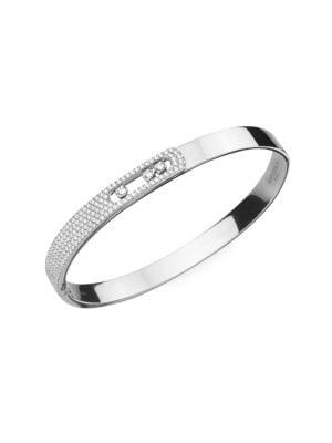 Move Noa Medium Diamond & 18K White Gold Bangle