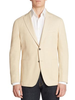 COLLECTION Piquet Single-Breasted Blazer