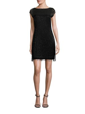 Buy Aidan Mattox Beaded Cap Sleeve Cocktail Dress online with Australia wide shipping