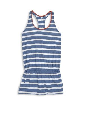 Girl's Chambray Cottage Striped Racerback Dress 0400092694676