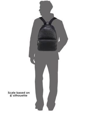 NEIL BARRETT Thunderbolt Embossed Leather Backpack