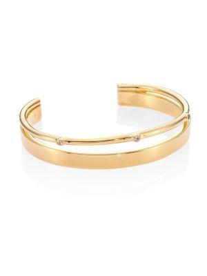 Maxwell White Topaz Cuff Bracelet