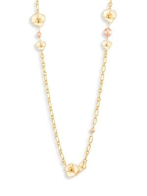 Fleur White Moonstone & Faux Pearl Rosary 0400092715099
