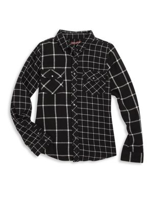 Girl's Windowpane Shirt