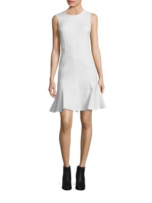 Back Cut-Out Fit-and Flare Dress