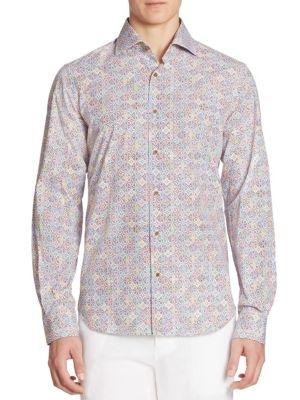 COLLECTION Moroccan Tile-Print Cotton Shirt