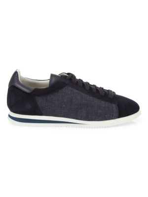 Suede & Denim Ares Runner Sneakers