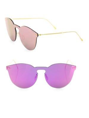 Leonard II 50MM Mirrored Mask Sunglasses