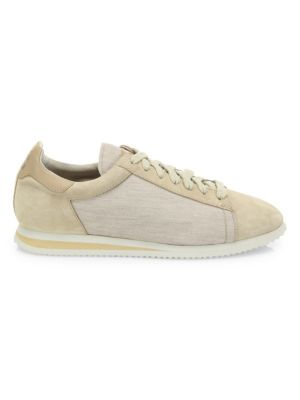 Suede & Nylon Runner Sneakers