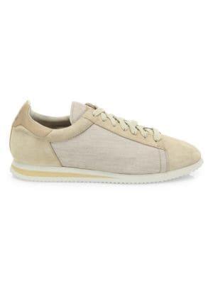 Suede & Nylon Ares Runner Sneakers