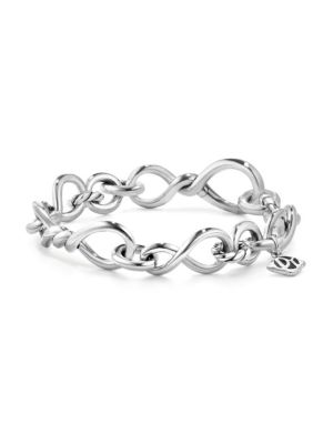 Continuance Center Twist Bracelet in Sterling Silver