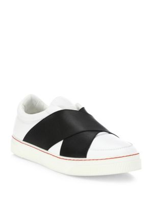 Leather Crisscross Skate Sneakers