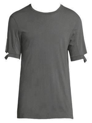 Solid Sleeve Cutout T-Shirt