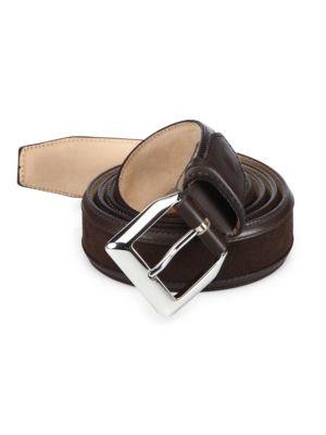 SUTOR MANTELLASSI Truman VeloucalAdjustable Leather Belt