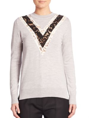 Wool Lace Sweater