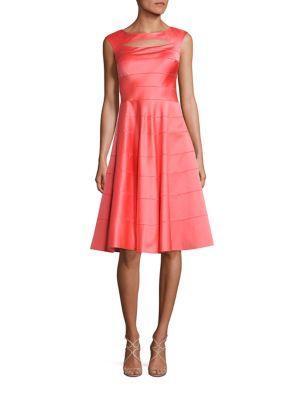 Paneled A-Line Dress
