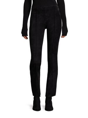 Beca Suede Cropped Flared Pants