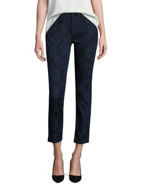 Riche Touch Floral Jacquard Skinny Jeans