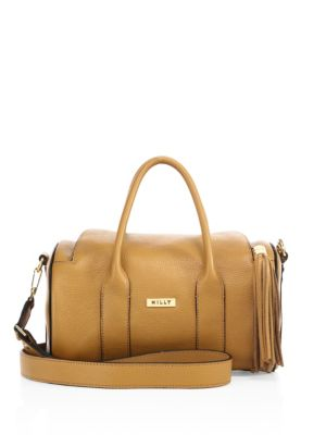milly female  astor leather duffle bag