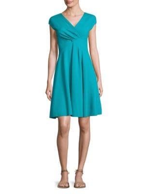 Ruched V-Neck Dress by Armani Collezioni