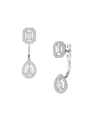 My Twin Toi & Moi Small 18K White Gold Diamond Stud & Ear Jacket Set