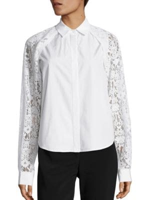 Collared Lace Button Shirt