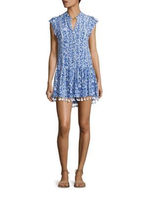 Heni Tassel Hem Mini Dress