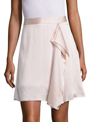 Gina Draped Silk Skirt