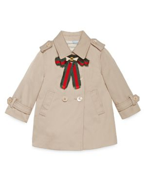 gucci baby baby girls twill trench coat