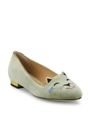 Velvet LOL Emoticon Kitty Flats