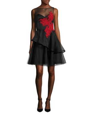 Andrea Tiered Fit-&-Flare Dress