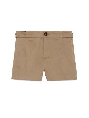 gucci baby babys stretch gabardine shorts