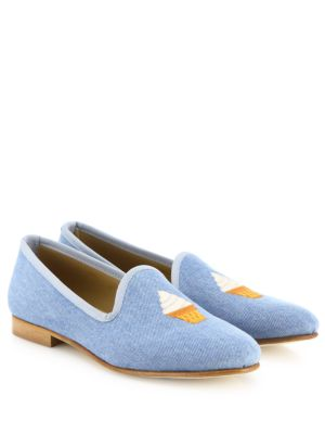 Ice Cream Cone Denim Loafers