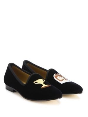 Trophy Wife Velvet Smoking Loafers