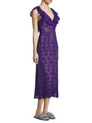 Macrame Lace Ruffle Dress