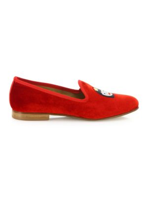 Queen Bee Velvet Smoking Loafers
