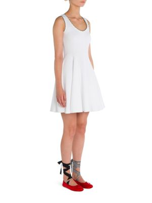 Scalloped Fit-&-Flare Dress