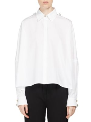 Cotton Poplin Trapeze Blouse
