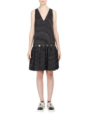 Taffeta Drop-Waist Dress