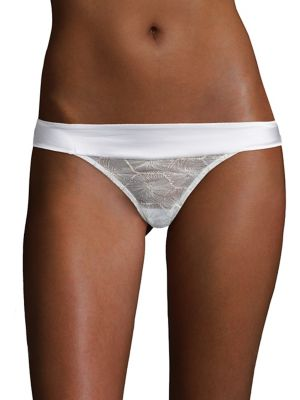 Embroidered French Bikini Bottom by Elle Macpherson Body